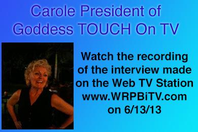 """""""Carole Ramsay, Psychic, Healer Medium - GoddessTouch.net on TV"""""""
