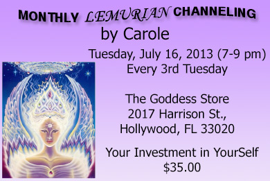 """Monthly Lemurian Channellings"""